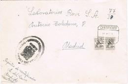 31232. Carta Certificada MADRID 1969. Mutualidad Postal, Franquicia Cartero. CARTERIA - 1931-Aujourd'hui: II. République - ....Juan Carlos I