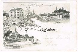 LAUFENBURG AG 1902 Hotel Wilden Mann - Litho - AG Argovie