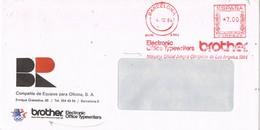 31233. Carta BARCELONA 1984. Franqueo Mecanico BROTHER, Equipos Oficina - 1931-Aujourd'hui: II. République - ....Juan Carlos I