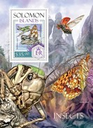 SOLOMON ISLANDS 2014 SHEET INSECTS BUTTERFLIES LADY BEETLES INSECTOS ESCARABAJOS PAPILLONS GRASSHOPPERS Slm14204b - Salomon (Iles 1978-...)