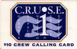 TARJETA DE ESTADOS UNIDOS. CRUISE, CREW CALLING CARD $10. (042) - Cartas De Hotels