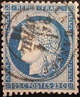 FRANCE Y&T N°60C Cérès 25c Bleu. Oblitéré La Bassée - 1871-1875 Cérès