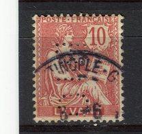 LEVANT - Y&T N° 14° - Type Mouchon - Perfin - Perforé - Levant (1885-1946)