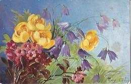 CPA Suisse  * Peinture Fleurs De Golay Mary * - Fleurs