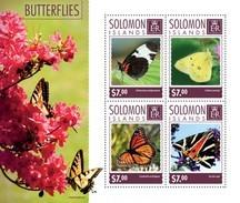 SOLOMON ISLANDS 2014 SHEET BUTTERFLIES PAPILLONS SCHMETTERLINGEN BORBOLETAS FARFALLE MARIPOSAS INSECTS Slm14602a - Salomon (Iles 1978-...)