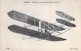 AVIATION - L'aéroplane WRIGHT En Plein Vol ( Beau Plan ) - CPA - - Avions