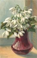 CPA Suisse  * Peinture Fleurs De A. Haller * - Fleurs