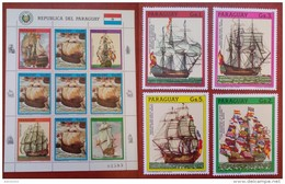 Paraguay 1987 - 500 Anniversary Discovery America - Full Set Values Mi4158-4162 MNH - Ship Sail Columbus Ocean - Paraguay