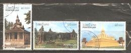 LAOS 1998 - HISTORIC SITES - CPL. SET  - POSTALLY USED OBLITERE GESTEMPELT - NO CTO! - Laos