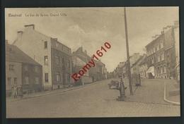 Ensival. Le Bas De La Rue Grand-Ville. Animée, Charrette, Fontaine, Vespasienne. - Verviers