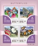 SOLOMON ISLANDS 2015 SHEET BUTTERFLIES PAPILLONS FARFALLE MARIPOSAS SCHMETTERLINGEN BORBOLETAS INSECTS Slm15406a - Salomon (Iles 1978-...)