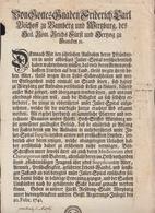 Bayern Friedrich Karl Bischoff Zu Bamberg Und Würzburg Brief Betr. Julier-Spital Aufnahme 1741 - Historische Dokumente