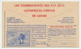 Postal Cheque Cover France 1991 Stamp - Skiing - Winter Olympic Games - Filatelie & Munten