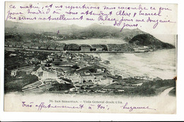 CPA - Carte Postale-  Espagne - San Sebastian -Vista General Desde Ulia-1912 - S5055 - Guipúzcoa (San Sebastián)