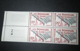 TIMBRE France 1959 Neuf** N° 1220  Donneurs De Sang   Bloc De 4 - Blocs & Feuillets
