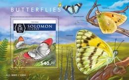 SOLOMON ISLANDS 2015 SHEET BUTTERFLIES PAPILLONS FARFALLE MARIPOSAS SCHMETTERLINGEN BORBOLETAS INSECTS Slm15508b - Salomon (Iles 1978-...)