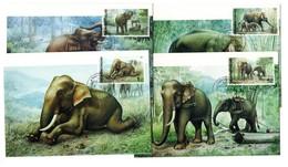 9830 Thailand MK Mi 1438-41 Elefanten - Thaïlande