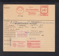 Dt. Reich Francotyp Karte Wiesbaden - Affrancature Meccaniche Rosse (EMA)
