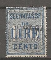 TAXE  Yv. N° 26  SASS N° 32  (o)  100l  Bleu   Cote  15 Euro  BE R  2 Scans - Postage Due