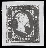 Italia: Antichi Stati - Sardegna - Effige Vittorio Emanuele II - 5 C. Nero - 1851 - Sardaigne