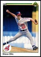 BASEBALL - UPPER DECK 1990 - STEVE OLIN - INDIANS - CARD - Baseball