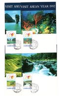 9832 Thailand MK Mi 1476-79 Landschaften - Thaïlande
