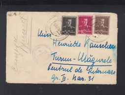 Rumänien Romania Brief 1943 An  Internierungslager Turnu Magure - Storia Postale Seconda Guerra Mondiale