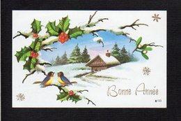 Nouvel An,Voeux,Bonne Année / Maxi Mignonnette / Paysage,oiseaux - Nouvel An