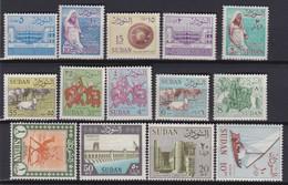Sudan    .     Yvert  .     144/157        .   **    .   Neuf SANS  Charniere     .    /    .   MNH - Soudan (1954-...)