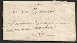 1723 - LAC - LORGUES ( VAR ) Sans Marque Postale - Pour AIX - 10 Mars 1723 - Postmark Collection (Covers)