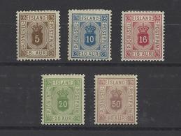 ISLANDE .  YT  Service  N° 5/9  Neuf *  1876-1901 - Service