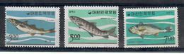 COREA DEL SUD 1966 - ANIMALI - PESCI  - SERIE COMPLETA  - MNH ** - Corée Du Sud