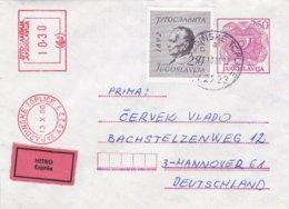 Yugoslavia Upfranked Expres Postal Stationary  Posted Varazdinski Toplice (now Croatia) 1980 (0045) - Covers & Documents