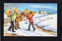 Nouvel An,Voeux,Bonne Année / Maxi Mignonnette / Paysage,enfants - Nouvel An