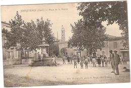 CPA Jonquières Place De La Mairie 30 Gard - Otros Municipios