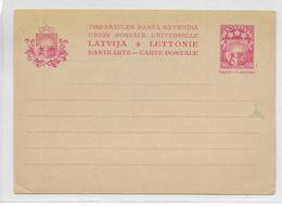 LETTONIE - 1929 - CARTE ENTIER POSTAL NEUVE - Latvia