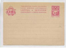 LETTONIE - 1929 - CARTE ENTIER POSTAL NEUVE - Lettonie