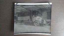 PHOTO ANCIENNE - CAMION LIVRAISON AUX GALERIES LAFAYETTE - PARIS BOULEVARD HAUSSMANN - Automobiles