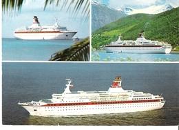 MS Astor - HADAG Cruise Line / 3-Bild-Karte - Dampfer