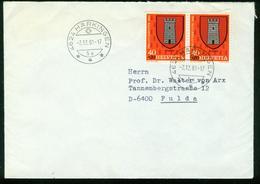 BR Schweiz   1981 Bief Von Härkingen Nach BRD, Fulda - Svizzera