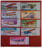 "Umm Al Qiwain 1969 - Aviation History Ovp ""MOON ORBIT/APOLLO 8"" - Imperf Deluxe Values Mi 305-311B MNH - Planes Rare - Umm Al-Qiwain"