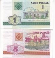BIELORUSSIE 1 ET 5 ROUBLES 2000 /NEUFS - Belarus