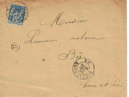 1899 - Lettre De Bû Pour Bû -  Tp Sage 15ct Type II - Cachet De BOITE RURALE Ⓓ - Marcophilie (Lettres)