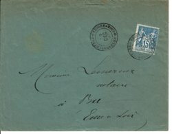 1897 - Lettre Pour BÛ - Cachet De BERCHERES SUR VESGRE Type 17bis - Marcophilie (Lettres)