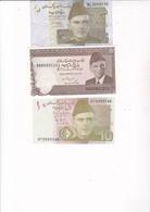 3 BILLETS PAKISTAN  5 / 10 ET 5 RUPEES - Pakistan