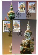 9840 Thailand MK Mi 2081-84 Tempelfiguren - Thaïlande