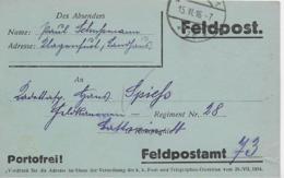 AK 0132  Feldpost Aus Klagenfurt An Feldpostamt 73 - Portofrei Am 15. VI. 1916 - Briefe U. Dokumente