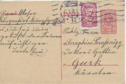 AK 0132  Postkarte Von Klagenfurt Nach Gurk 1920 - 1918-1945 1. Republik