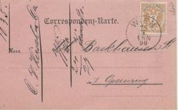 AK 0132  Correspondenz-Karte C. H. Hirsch & Co Wien 1890 - Briefe U. Dokumente