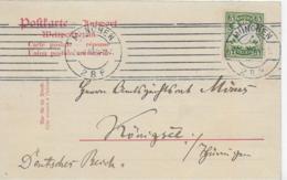 AK 0132  Postkarte Bayern 5 Pfennig Am 26. 4. 1910 - Deutschland